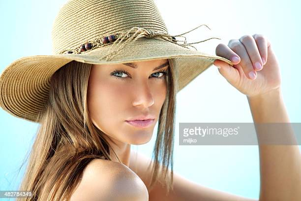 Beauty with sun hat