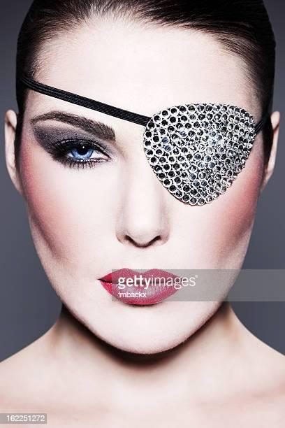 Beauty with Swarovski Eye Patch