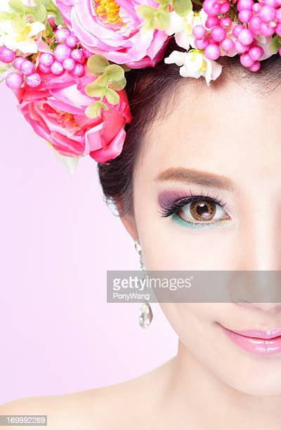 Beauty woman face with Professional Makeup