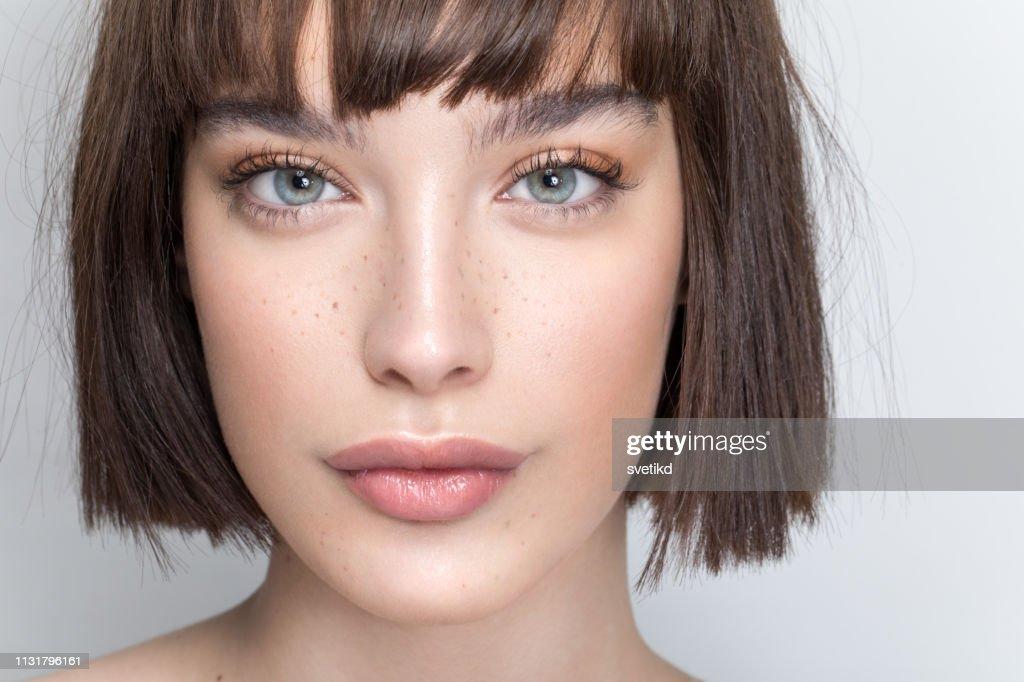Retrato da mulher da beleza : Foto de stock