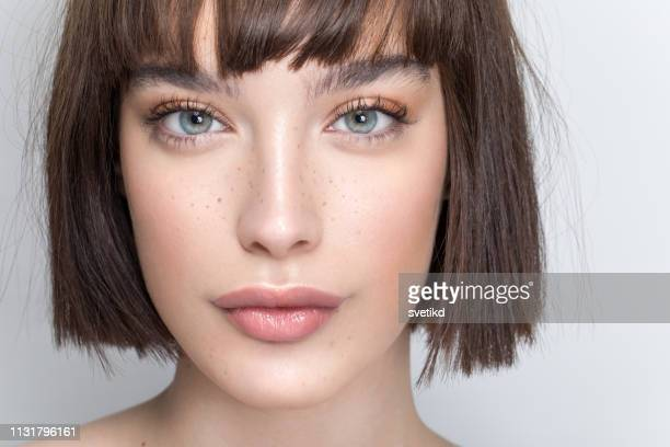 beauty woman portrait - eye make up stock pictures, royalty-free photos & images