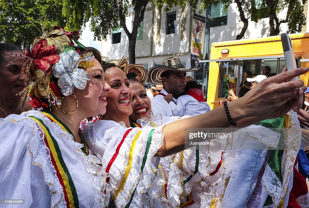 Beauty Women at Calle Ocho Festival : Stock Photo