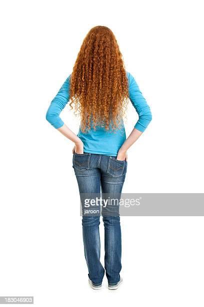 Schönheit junge Rotes Haar-Frau