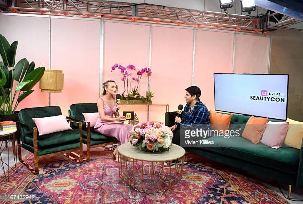 Beautycon Media CEO Moj Mahdara and Kristin Gill speak onstage Beautycon Festival Los Angeles 2019 at Los Angeles Convention Center on August 11 2019...
