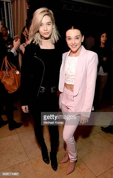 Beauty/Fashion Vlogger Amanda Steele and dancer Kendall Vertes attend Miss Me and Cosmopolitan's Spring Campaign Launch Event Hosted by Bella Thorne...