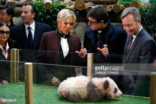 Beauval Zoo founder Francoise Delord French president's wife Brigitte Macron Director of the Beauval Zoo Rodolphe Delord French Junior Minister for...
