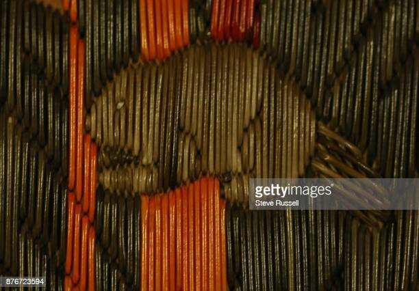 M'CHIGEENG ON NOVEMBER 7 A beaver on a quill box that rests in the storage area Art artifacts and other historical items are stored In the...