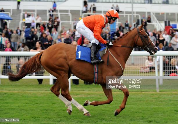 Beaver Patrol ridden by Jim Crowley going to post for the Bet On Live Cricket At totesportcom Handicap at Epsom LIVE