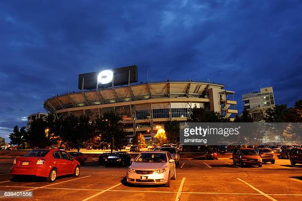 beaver stadium in pennstate campus - state college stock photos and pictures