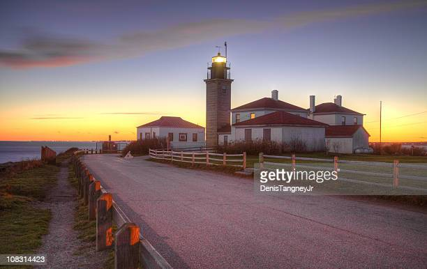 beavertail lighthouse - williamsburg virginia stock pictures, royalty-free photos & images
