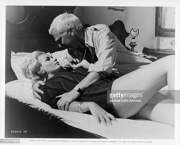 Beba Loncar and Tim Barrett make love in a scene from the film 'The Boy Cried Murder' 1966