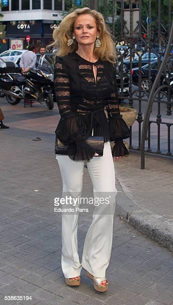 Beba Longoria attends the Marquesa de San Eduardo funeral at La Concepcion de nuestra Señora church on June 7 2016 in Madrid Spain