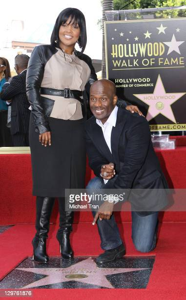 BeBe and CeCe Winans attend the ceremony honoring them with a Star on The Hollywood Walk of Fame on October 20 2011 in Hollywood California