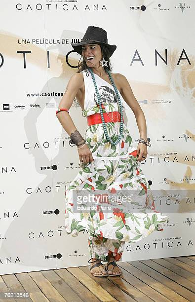 Bebe attends the Caotica Ana Photocall on August 21 2007 in Madrid Spain