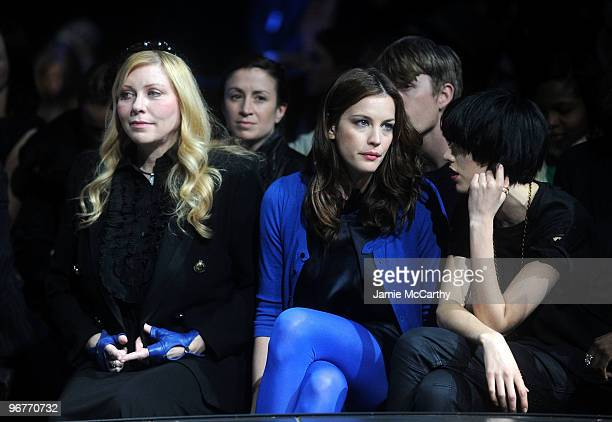 Bebe Buell Actress Liv Tyler and model Agyness Deyn attend GStar Raw Presents NY Raw Fall/Winter 2010 Collection at Hammerstein Ballroom on February...