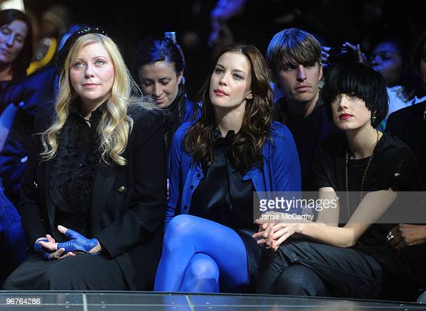 Bebe Buell actress Liv Tyler and model Agyness Deyn attend the GStar Raw Presents NY Raw Fall/Winter 2010 Collection at Hammerstein Ballroom on...