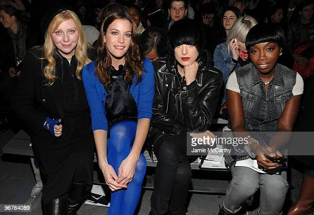 Bebe Buell Actress Liv Tyler model Agyness Deyn and Singer Estelle attend the GStar Raw Presents NY Raw Fall/Winter 2010 Collection at Hammerstein...