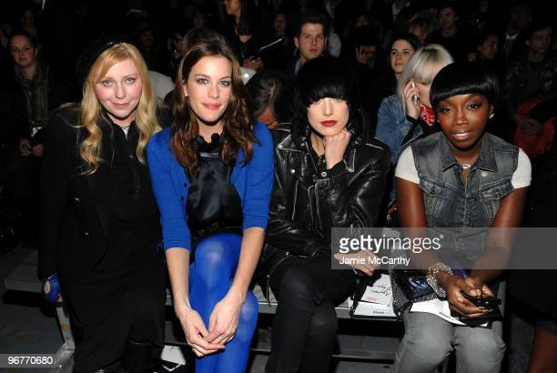 Bebe Buell Actress Liv Tylermodel Agyness Deyn and Singer Estelle attend the GStar Raw Presents NY Raw Fall/Winter 2010 Collection at Hammerstein...