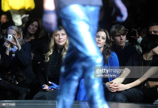 Bebe Buell and Actress Liv Tyler attend GStar Raw Presents NY Raw Fall/Winter 2010 Collection at Hammerstein Ballroom on February 16 2010 in New York...