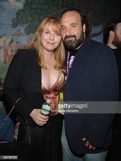 Bebe Buell and director Steve Saporito attend the Squeezebox Documentary Film AfterParty During Tribeca Film Festival at the Blender Theater in New...