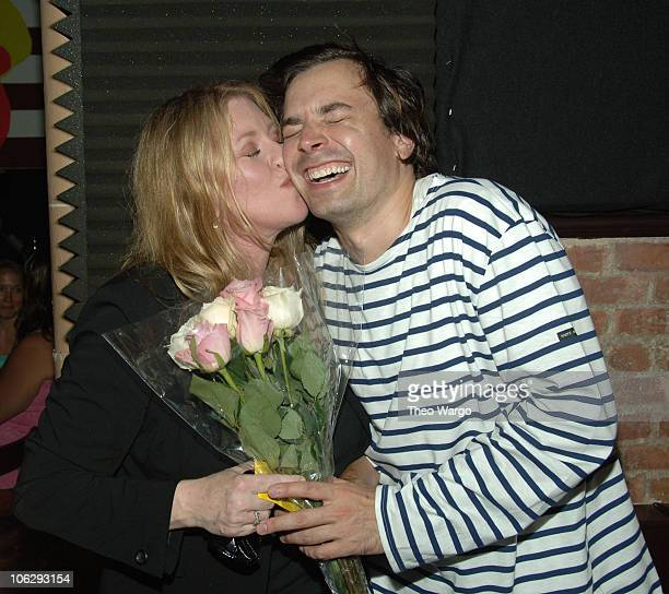 Bebe Buell and Jimmy Fallon during Bebe Buell Birthday Bash July 12 2006 at The Cutting Room in New York City New York United States