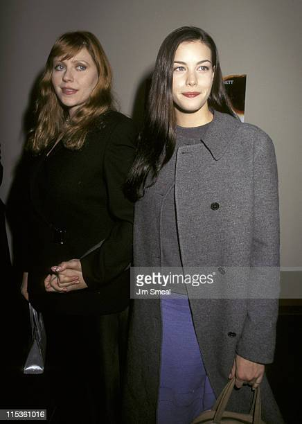 Bebe Buell and Liv Tyler during Premiere of Oscar And Lucinda at Director's Guild Theater in New York City New York United States