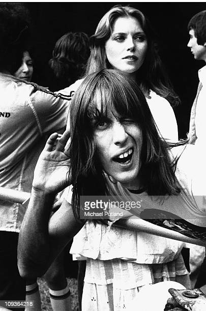Bebe Buell and Todd Rundgren at Knebworth August 1976
