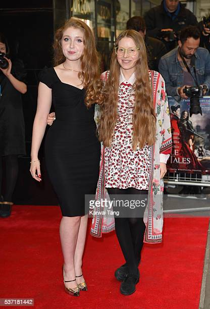Bebe Cave and Jessie Cave arrive for the UK Premiere of Tale Of Tales at The Curzon Mayfair on June 1 2016 in London England