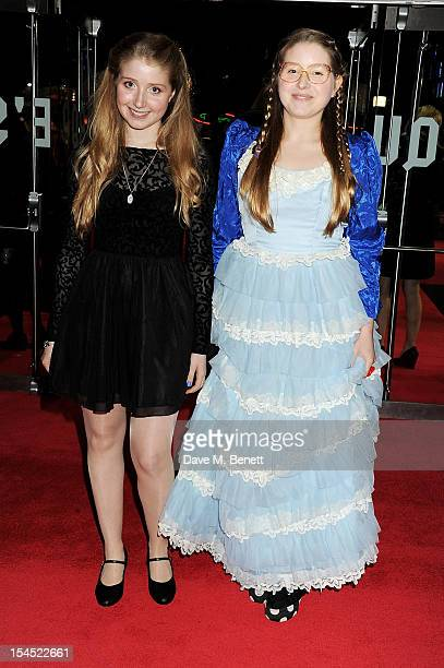 Bebe Cave and Jessie Cave attend the Gala Premiere of 'Great Expectations' which closes the 56th BFI London Film Festival at Odeon Leicester Square...
