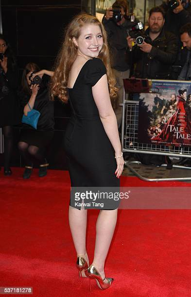 Bebe Cave arrives for the UK Premiere of Tale Of Tales at The Curzon Mayfair on June 1 2016 in London England