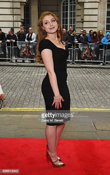 Bebe Cave attends the UK Premiere of Tale Of Tales at The Curzon Mayfair on June 1 2016 in London England