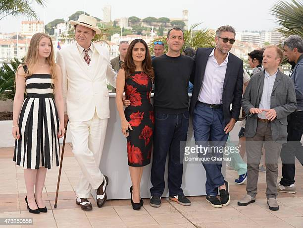 Bebe Cave John C Reilly Salma Hayek Matteo Garrone Vincent Cassel and Toby Jones attend the Il Racconto Dei Racconti Photocall during the 68th annual...