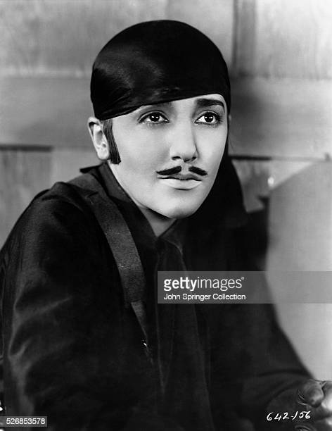 Bebe Daniels dresses as a swashbuckler in the 1927 silent film Senorita The film was a spoof of the 1920 picture The Mark of Zorro starring Douglas...