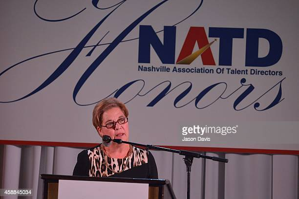 Bebe Evans attends the 4th annual NATD awards at Hermitage Hotel on November 11 2014 in Nashville Tennessee