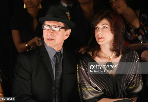 Bebe founder Manny Mashouf and wife Neda in the front row at the Veronika Jeanvie Fall 2008 fashion show during MercedesBenz Fashion Week held at...