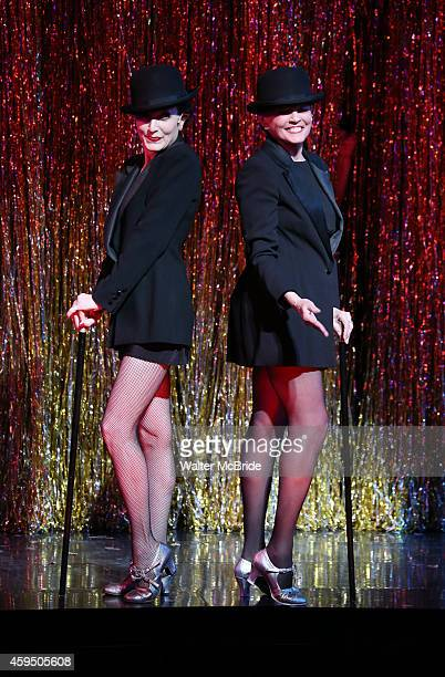 Bebe Neuwirth and Ann Reinking during the landmark performance of 'Chicago' as it becomes the 2nd longest show in Broadway History at the Ambassador...