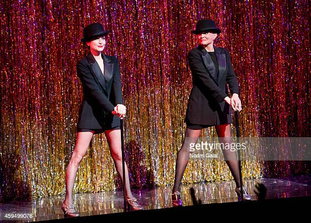Bebe Neuwirth and Ann Reinking perform at the 7486th performance of 'Chicago' the second longest running Broadway show of all time at Ambassador...