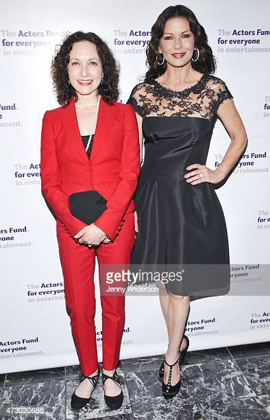 Bebe Neuwirth and Catherine ZetaJones attend the 2015 Actors Fund Gala at The New York Marriott Marquis on May 11 2015 in New York City