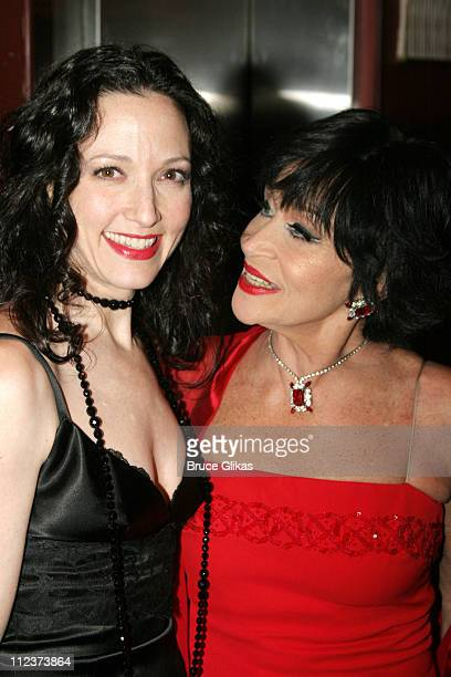 Bebe Neuwirth and Chita Rivera during 'Chita Rivera The Dancer's Life' Broadway Opening Night After Party at The Gerald Schoenfeld Theatre then The...