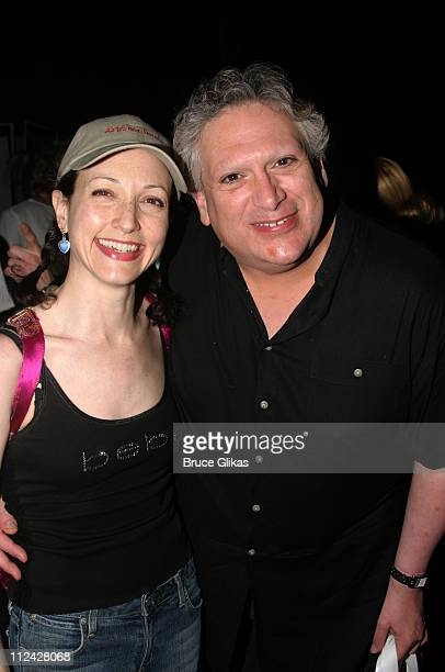 Bebe Neuwirth and Harvey Fierstein during Broadway Barks 5 in Shubert Alley at Shubert Alley in New York City New York United States