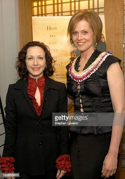 Bebe Neuwirth and Sigourney Weaver during New Directors/New Films Premiere of 'The Guys' Green Room at Alice Tulley Hall in New York City New York...