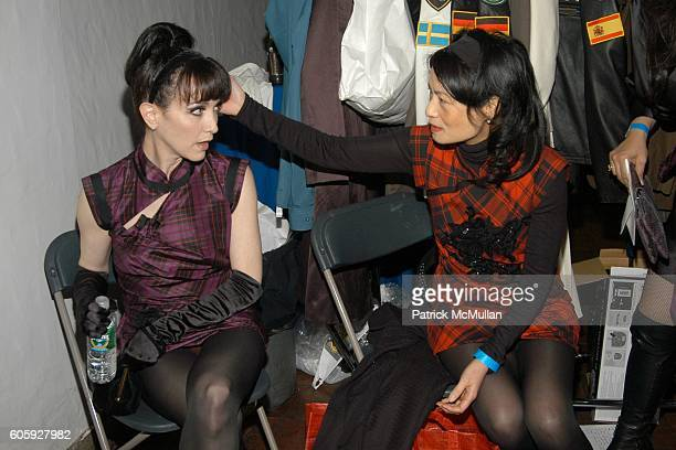Bebe Neuwirth and Vivienne Tam attend DRESSED TO KILT 2006 Fashion Show sponsored by Johnnie Walker at Synod House on April 3 2006 in New York City