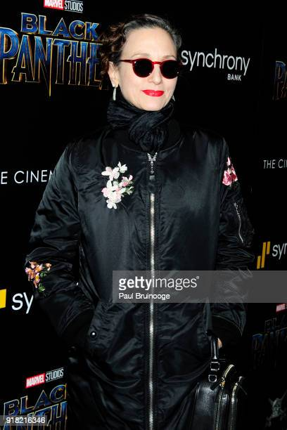 Bebe Neuwirth attends The Cinema Society with Ravage Wines Synchrony host a screening of Marvel Studios' 'Black Panther' at The Museum of Modern Art...
