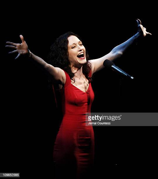 Bebe Neuwirth during Broadway's Celebrity Benefit for Hurricane Relief Show at The Gershwin Theatre in New York City New York United States