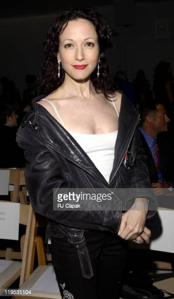 Bebe Neuwirth during MercedesBenz Fashion Week Spring 2004 Badgley Mischka Front Row and Backstage at Josephine Tent Bryant Park in New York City New...