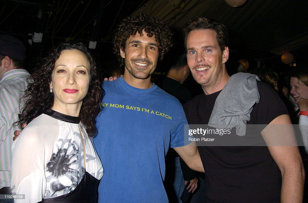 Bebe Neuwirth, Ethan Zohn and Kevin Dillon during The Hanes Perfect T Party - August 16, 2005 at The Peking at the South Street Seaport in New York City, New York, United States.