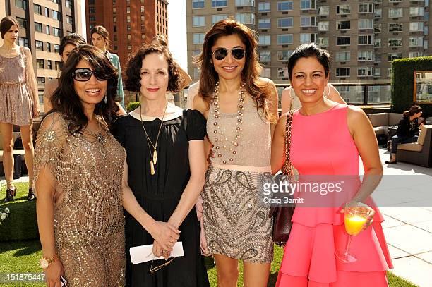 Bebe Neuwirth Mrinalini Kumari and guest attend the Renzo Kai Spring 2013 fashion show presentation during MercedesBenz Fashion Week at Empire Hotel...
