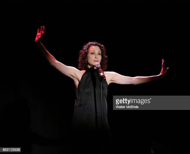 Bebe Neuwirth performing at the Vineyard Theatre 2017 Gala at the Edison Ballroom on March 13 2017 in New York City