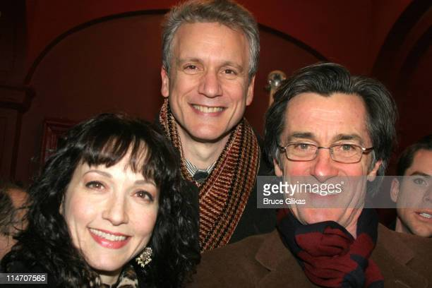 Bebe Neuwirth Rick Elice and Roger Rees during Sarah Jones' Bridge and Tunnel Broadway Opening Night Arrivals at Helen Hayes Theatre in New York City...