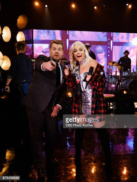 Bebe Rexha and Florida Georgia Line perform during 'The Late Late Show with James Corden' Thursday November 16 2017 On The CBS Television Network